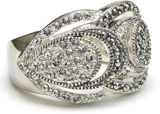 "Judith Jack Orbit"" Crystal Dome Ring"