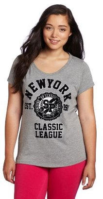 Southpole Juniors Plus-Size New York Logo Fashion Teet