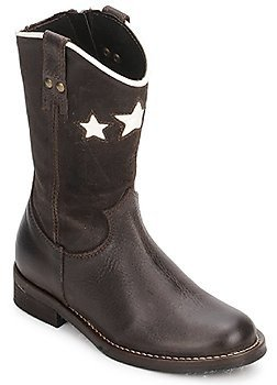 Hip IDERNE girls's High Boots in Brown