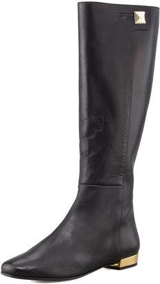 Kate Spade Oliver Flat Golden-Heel Knee Boot