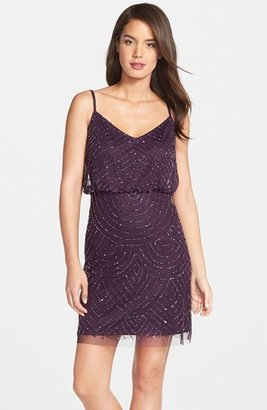 Adrianna Papell Sequin Mesh Blouson Dress $198 thestylecure.com