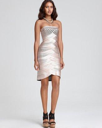 "BCBGMAXAZRIA Centurian"" Satin Strapless Dress"