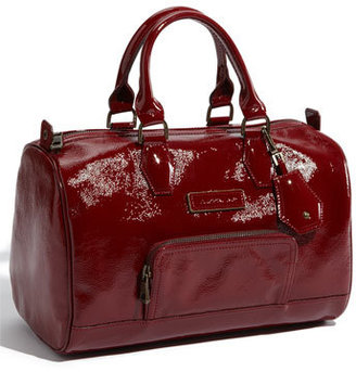 Longchamp 'Legende Verni' Patent Calfskin Leather Satchel