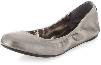BCBGMAXAZRIA Molly1 Matte Leather Ballet Flat, Gunmetal