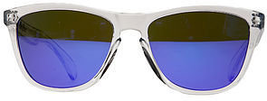Oakley The Frogskin Sunglasses in Polished Clear with Violet Frogskin