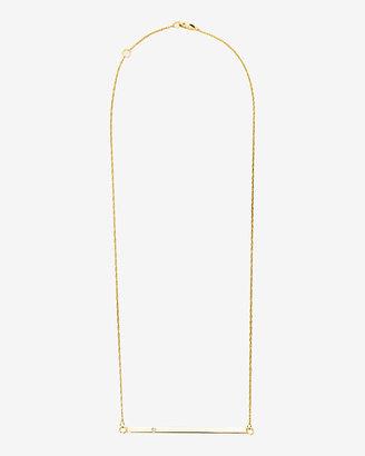 Jennifer Zeuner Jewelry Chelsea Horizontal Bar Necklace with Diamond