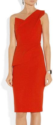 Roland Mouret Pernice one-shoulder wool-crepe dress