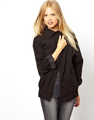 Asos Slouch Jacket With Collar