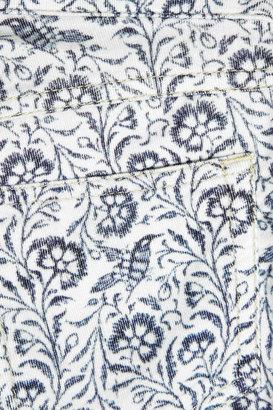 Etoile Isabel Marant Iti mid-rise printed corduroy skinny jeans