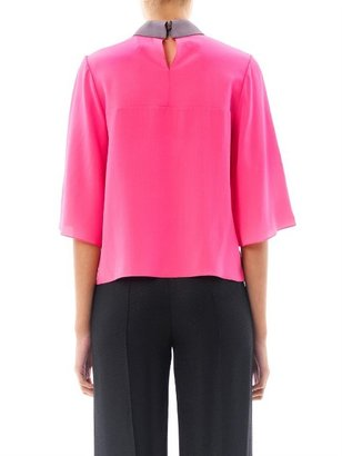 Roksanda Hunter contrast collar silk blouse