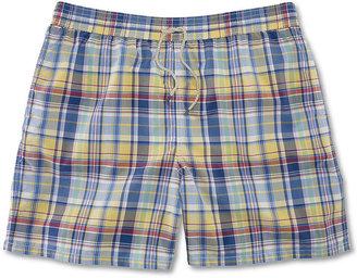Polo Ralph Lauren Big and Tall Shorts, Plaid Hawaiian Boxer Trunks