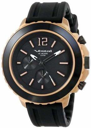 "Vestal Unisex YATCS04 ""Yacht"" Rose Gold Black Watch"