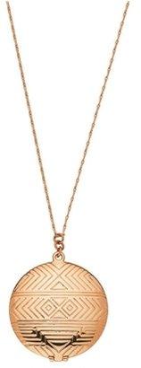 House Of Harlow Medallion Locket Necklace Rose Gold