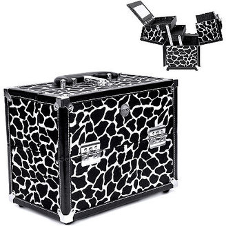 S.O.H.O New York Zebra 11 Inch Two Drawer Train Case