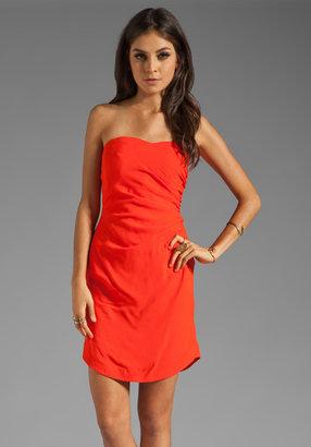 Rebecca Taylor Crepe Strapless Dress