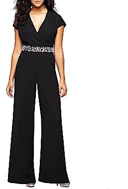 JCPenney Bisou Bisou® Beaded Waist Jumpsuit