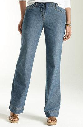 J. Jill Lightweight denim trousers