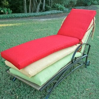 """Indoor/Outdoor Chaise Lounge Cushion Blazing Needles Fabric: Avocado, Size: 72"""" W x 24"""" D"""