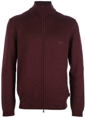 HUGO BOSS 'Baldemar' zip knit sweater