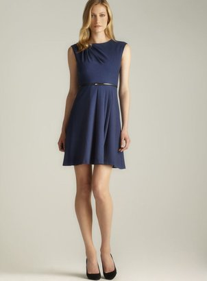 Calvin Klein Belted Pleated Fit & Flare Dress