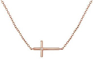 JCPenney Horizontal Cross Diamond-Accent Necklace