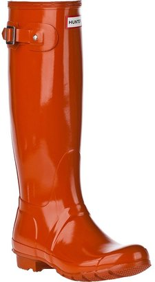 Hunter BOOTS Original Gloss Rain Boot Merlot Rubber