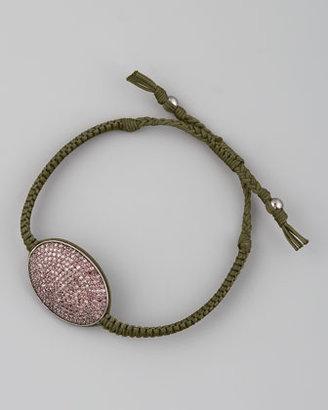 Tai Pave Oval-Ring Bracelet