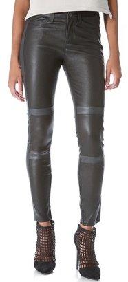 J Brand Irina Leather Moto Pants