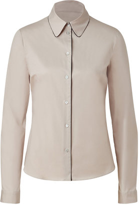 Jil Sander Navy Almond Contrast Piped Top
