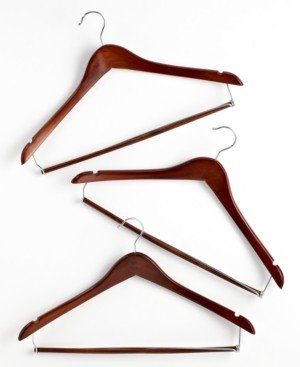 Honey-Can-Do Suit Hangers, 6 Piece Set Contoured with Locking Bars