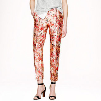 J.Crew Collection cropped pintuck pant in lemonade print