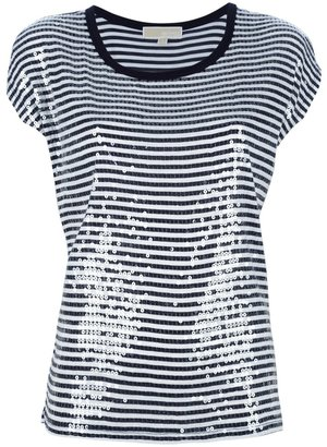 MICHAEL Michael Kors sequin stripe t-shirt