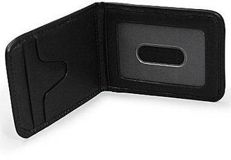 JCPenney Engravable Black Leather Money Clip