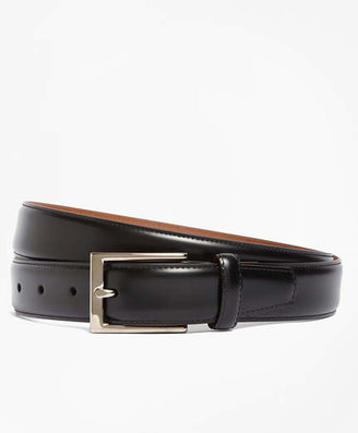 Brooks Brothers Silver Buckle Leather Dress Belt