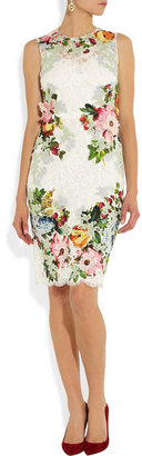 Dolce & Gabbana Appliquéd lace dress