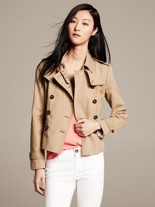 Banana Republic Heritage Cropped Trench