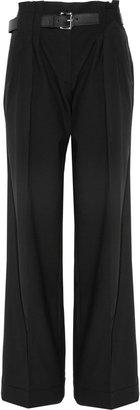 MICHAEL Michael Kors Belted stretch-wool wide-leg pants