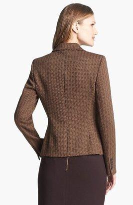 Anne Klein Herringbone Ponte Knit Blazer
