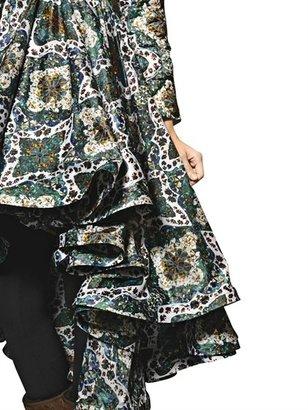 Ivory Caravan Print Nylon Down Jacket