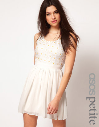 Asos Exclusive Dress With Sequin Daisies
