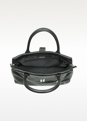 La Bagagerie Black Leather Tote Bag