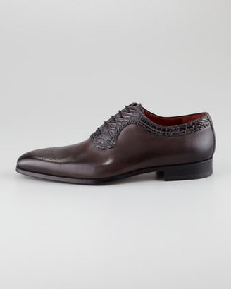 Magnanni Crocodile-Trim Oxford