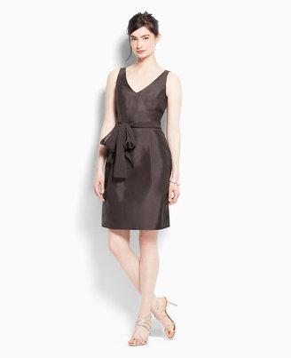 Ann Taylor Silk Dupioni V-Neck Bridesmaid Dress