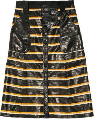 Proenza Schouler Striped eel skirt