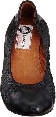 Lanvin Leather Ballet Flats-Black