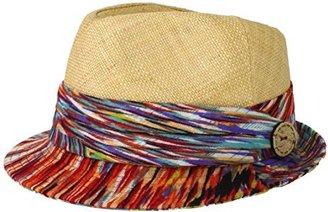San Diego Hat Company San Diego Hat Women's Tribal Straw Fedora Hat