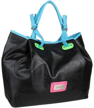 XOXO On Board Color Block Double Handle (Black) - Bags and Luggage