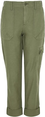 Frame Service Green Cotton Cargo Trousers