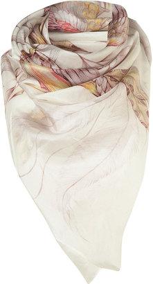 Topshop Tropical Bird Silk Scarf