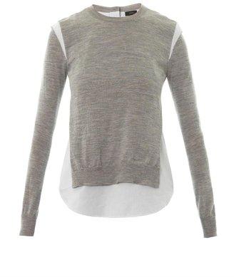 Joseph Layered merino wool knit sweater